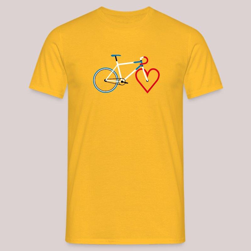 15-30 Rad Herz - Männer T-Shirt