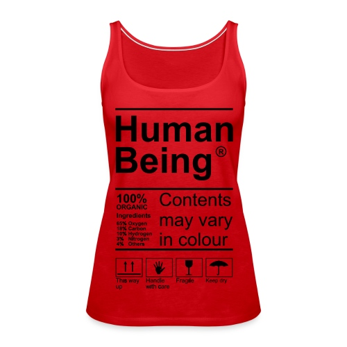 Human Being Product Label Tops - Frauen Premium Tank Top