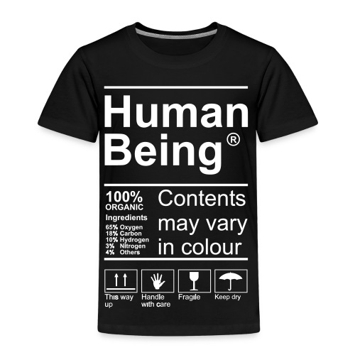 Human Being Product Label T-Shirts - Kinder Premium T-Shirt