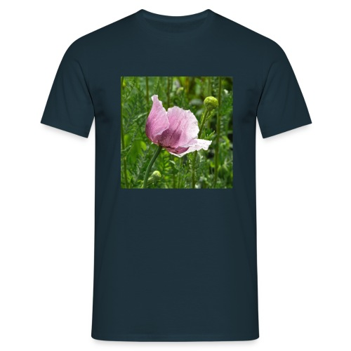 Pink Poppy - Männer T-Shirt
