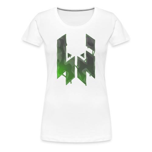Liquify Logo Shirt Women [green logo] - Women's Premium T-Shirt