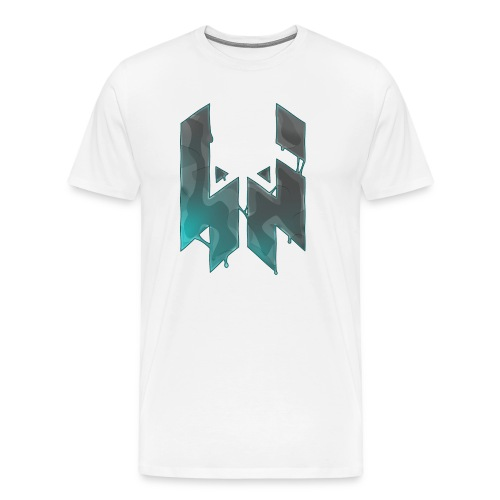 Liquify Logo Shirt Men [turquise logo] - Men's Premium T-Shirt