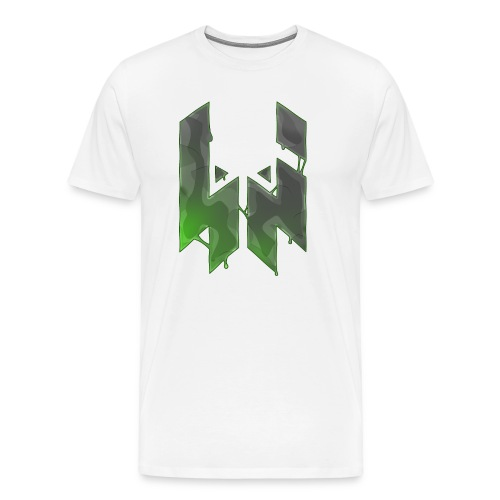 Liquify Logo Shirt Men [green logo] - Men's Premium T-Shirt