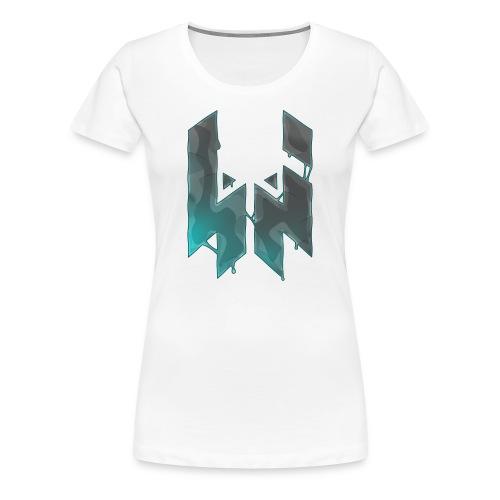 Liquify Logo Shirt Women [turquoise logo] - Women's Premium T-Shirt