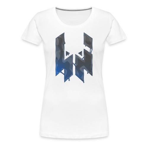 Liquify Logo Shirt Women [blue logo] - Women's Premium T-Shirt