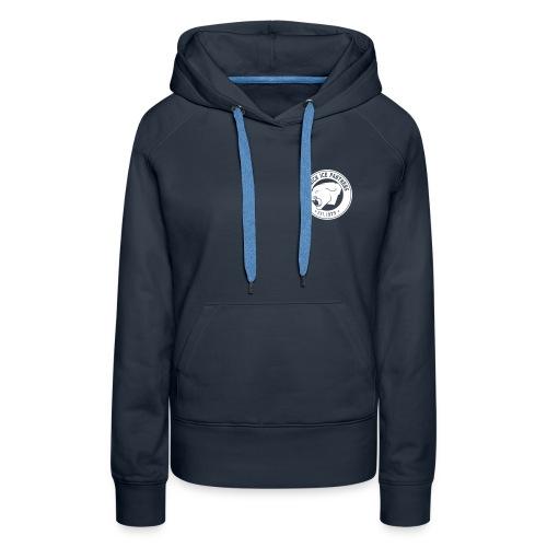 Brand only / front Women's Hoody | Navy / White | Digital Direktdruck - Frauen Premium Hoodie