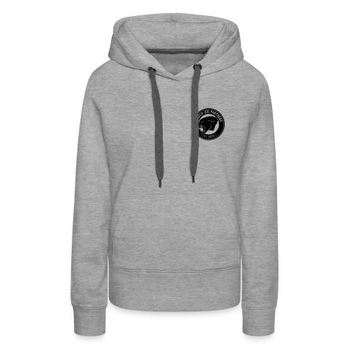 Brand only / front Women's Hoody | Gray / Black | Digital Direktdruck - Frauen Premium Hoodie