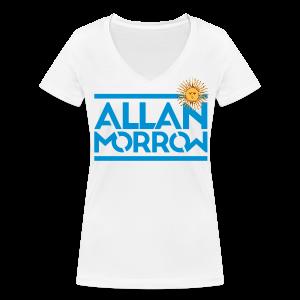Allan Morrow / Argentina - Women's V-Neck T-Shirt - Women's Organic V-Neck T-Shirt by Stanley & Stella