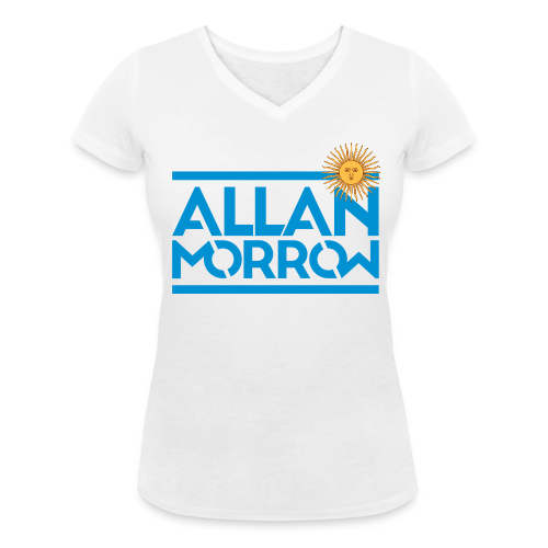 Allan Morrow / Argentina - Women's V-Neck T-Shirt - Women's Organic V-Neck T-Shirt by Stanley & Stella