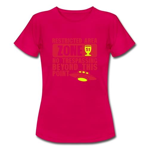 restrited area 51 Zone - T-shirt Femme