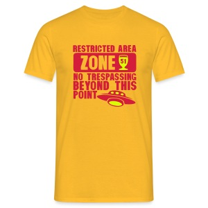 restrited area 51 Zone - T-shirt Homme