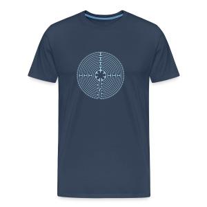 Labyrinth Männer vorne - Männer Premium T-Shirt
