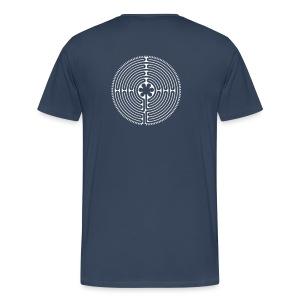 Labyrinth Männer hinten - Männer Premium T-Shirt