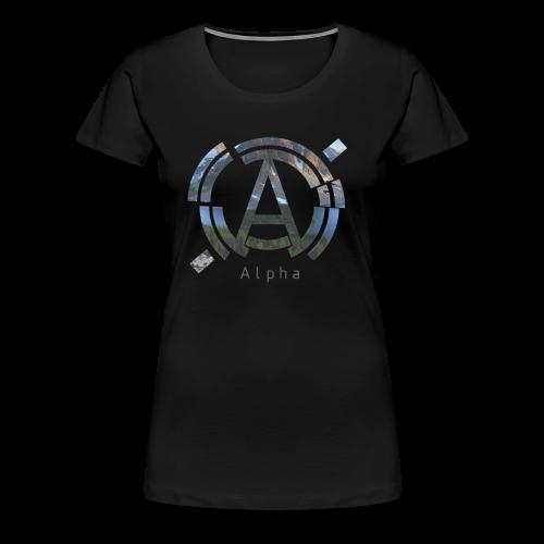 Women's AlphaOfficial Logo Shirt - Women's Premium T-Shirt