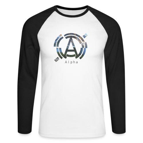 Men's Long Sleeved AlphaOfficial T-Shirt - Men's Long Sleeve Baseball T-Shirt