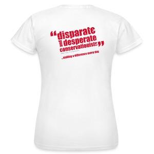 BAWC Disparate & Desperate Quote Women's White T-Shirt - Women's T-Shirt