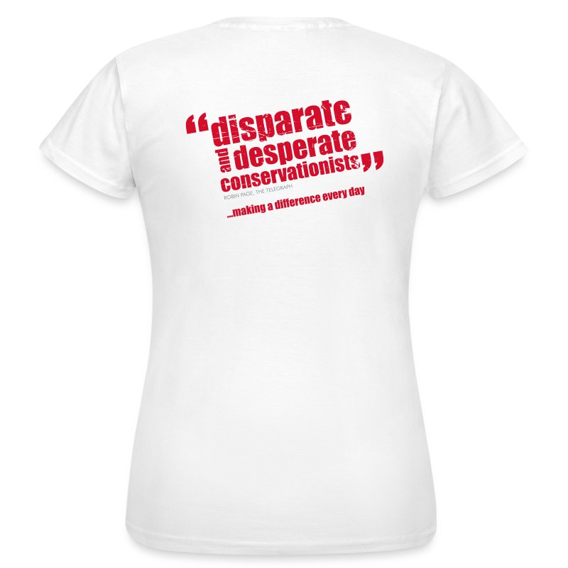 BAWC Disparate & Desperate Quote Women's White T-Shirt - Women's T-Shirt