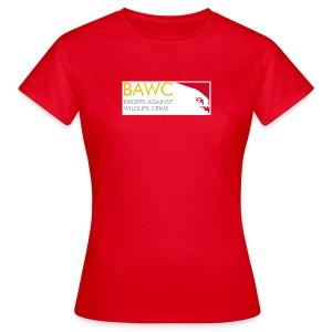 BAWC Horizontal Logo Women's Red T-Shirt - Women's T-Shirt