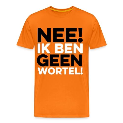 Duidelijk T-shirt Nee, ik ben geen wortel (wel oranje) - Mannen Premium T-shirt