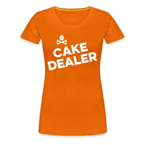Cupcakes verkopen op Koningsdag? - Vrouwen Premium T-shirt
