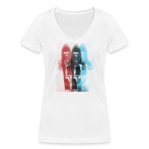 The Duke - Frauen Bio-T-Shirt mit V-Ausschnitt von Stanley & Stella
