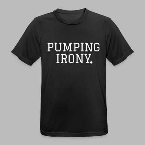 Sportshirt - Pumping Iron(y) - Männer T-Shirt atmungsaktiv