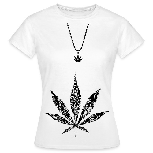 T-shirt Canna Femme logo Noir - T-shirt Femme