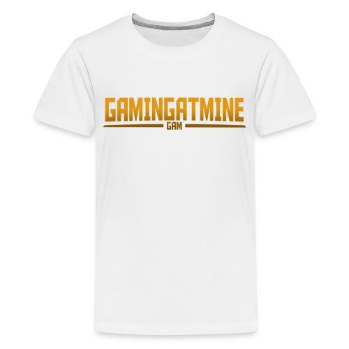 Gamingatmine T-Shirt (GOLD , TEENS) - Teenage Premium T-Shirt