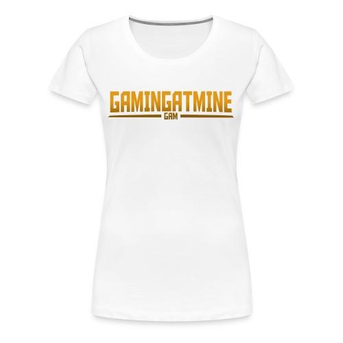Gamingatmine T-Shirt (GOLD , WOMENS) - Women's Premium T-Shirt