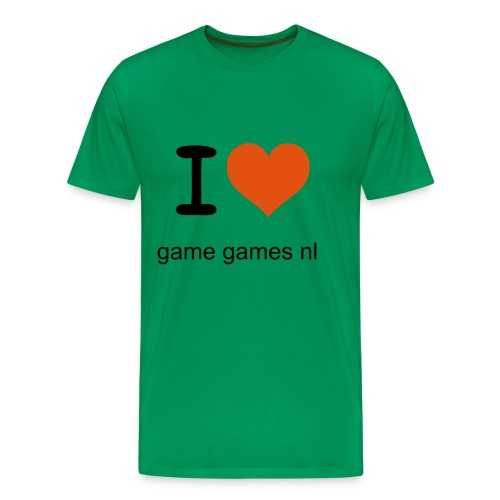 man limited edition red t-shirt i love game games nl - Mannen Premium T-shirt