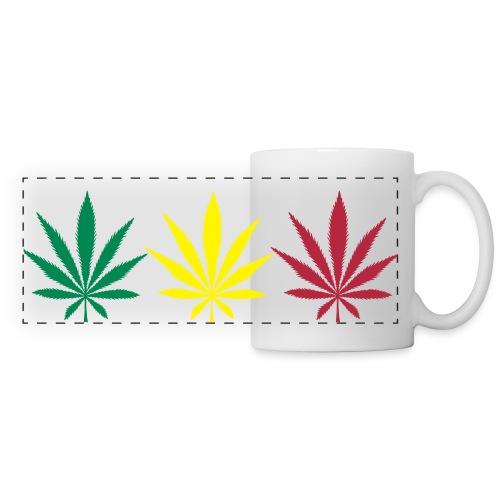Tasse Canna Rasta - Mug panoramique contrasté et blanc