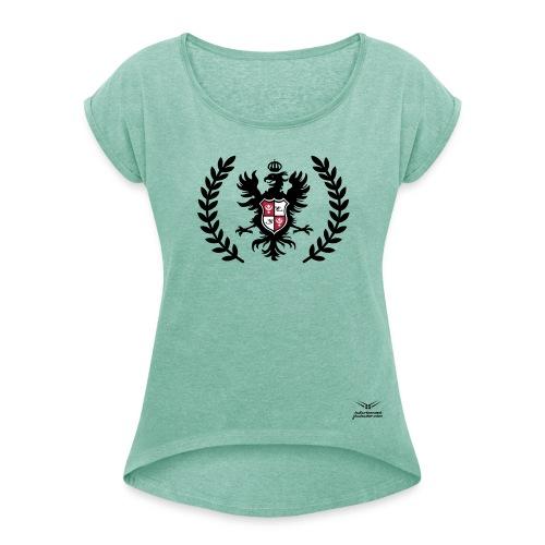 JOWHWEAR - jowh.eagle - 1801002002 - Frauen T-Shirt mit gerollten Ärmeln