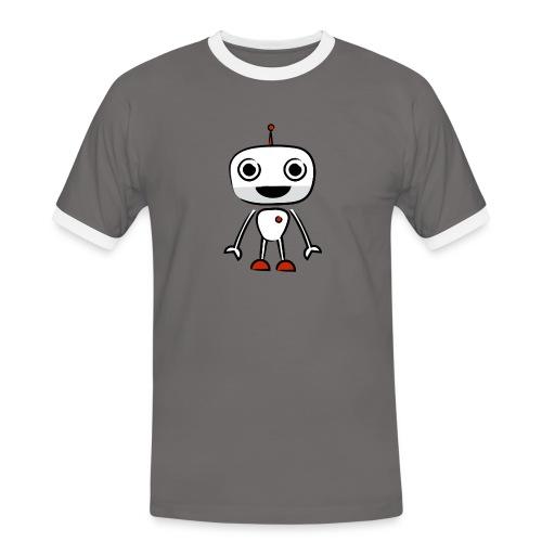 botman retro beige - Men's Ringer Shirt