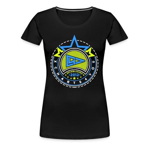 xWomen Gelb Blau - Frauen Premium T-Shirt