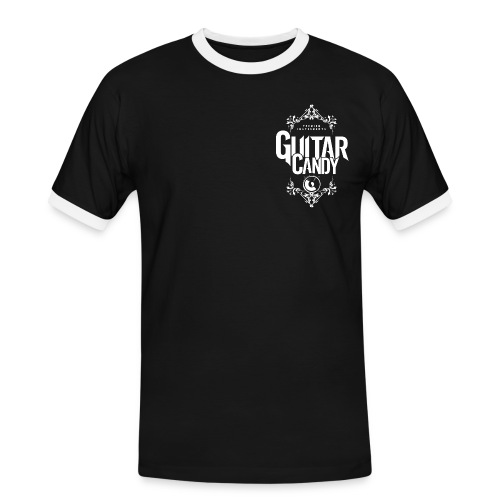 Guitar Candy Retro Double Logo T-Shirt - Men's Ringer Shirt