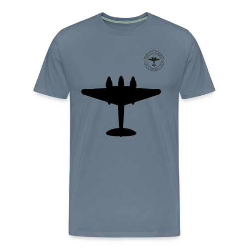 Mosquito Silhouette T-Shirt - Steel Blue - Men's Premium T-Shirt