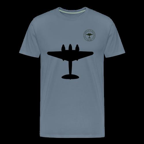 Mosquito Silhouette T-Shirt - Steel Blue - Men's Premium T-Shirt
