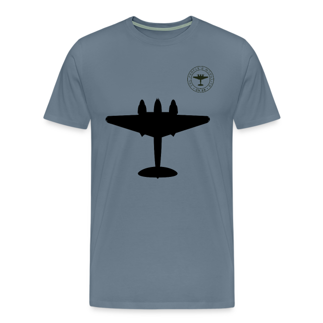 Mosquito Silhouette T-Shirt - Steel Blue