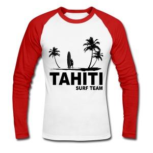 Tahiti surf team - Men's Long Sleeve Baseball T-Shirt