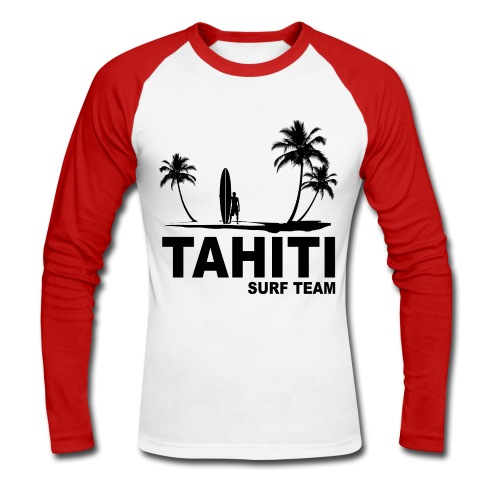 Tahiti surf team - Men's Long Sleeve Baseball T-Shirt