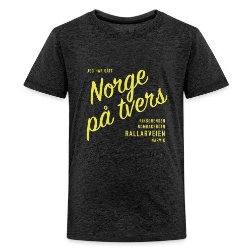 Rallarveien - Jeg har gått Norge på tvers - Premium T-skjorte for tenåringer