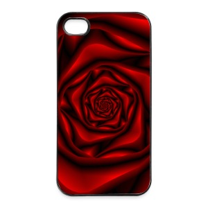 Rose Spiral in Black and Red - iPhone 4/4s Hard Case