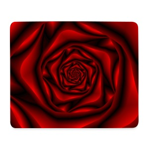 Rose Spiral in Black and Red - Mouse Pad (horizontal)