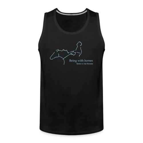 Being with Horses Rider Men Tank Top  (Print: Digital Light Blue) - Männer Premium Tank Top