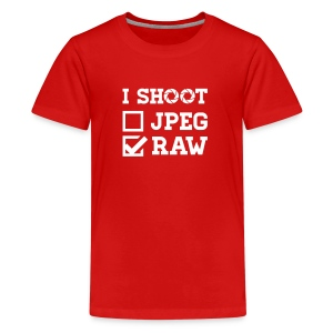 I Shoot ? - Photography T-Shirts - Teenager Premium T-Shirt
