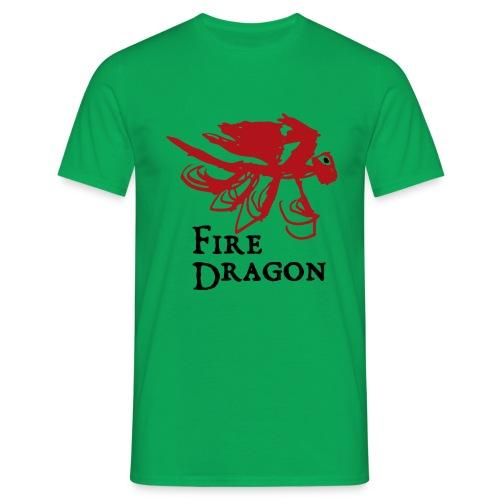 Fire Dragon - T-shirt herr
