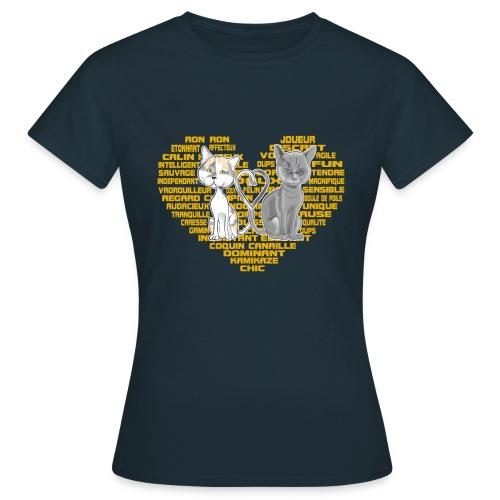 Cœur de chat (or) - T-shirt Femme