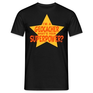 Geocaching Superpower - Men's T-Shirt