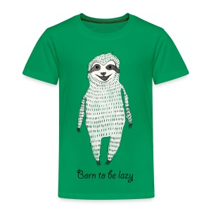 Kelly green Born to be lazy Shirts - Kids' Premium T-Shirt