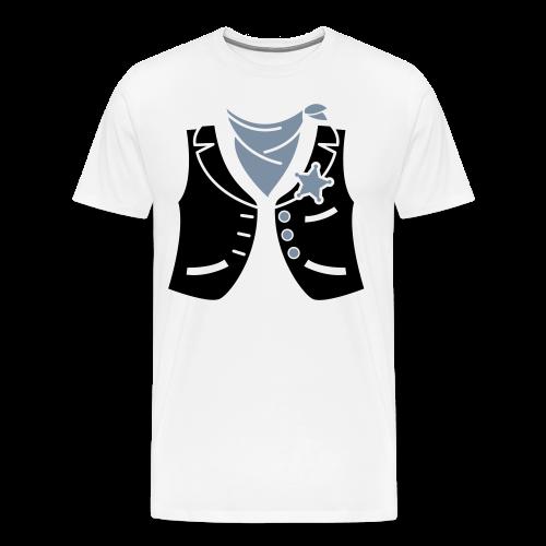 Cowboyweste Sheriff - Männer Premium T-Shirt